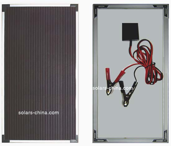 25w solarpanel d nnschic amorphe module amorphes. Black Bedroom Furniture Sets. Home Design Ideas