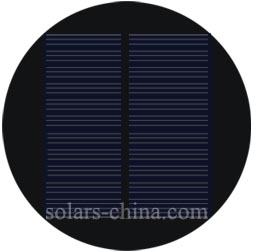 runde solarzelle 1 2w 6v kreis solarzelle circular solarpanel kleine solarpanel. Black Bedroom Furniture Sets. Home Design Ideas